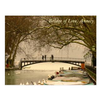 Cartão Postal Ponte do amor, Annecy, France