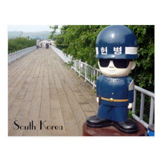 Cartão Postal ponte do dmz de Coreia