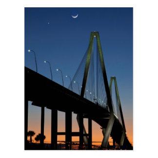 Cartão Postal Ponte do Jr. de Arthur Ravenel no crepúsculo