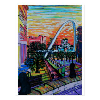 Cartão Postal Ponte do milênio de Gateshead de Newcastle