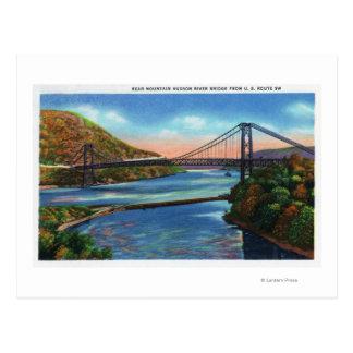 Cartão Postal Ponte do Rio Hudson da montanha do urso