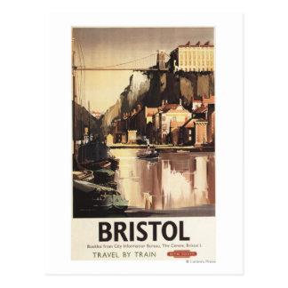 Cartão Postal Ponte e barcos de suspensão de Clifton