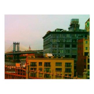 Cartão Postal Ponte e Empire State Building de Manhattan