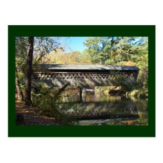 Cartão Postal Ponte e reflexão do moinho de Poole
