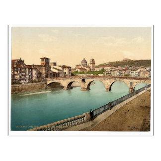 Cartão Postal Ponte e San de pedra Giorgia, classi de Verona,