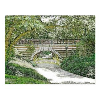 Cartão Postal Ponte e trajeto do Central Park