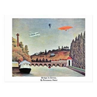 Cartão Postal Ponte em Sèvres, por Rousseau Henri