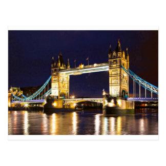 Cartão Postal Ponte Londres da torre