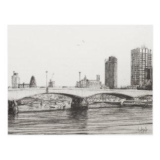 Cartão Postal Ponte Londres de Waterloo. 31/10/2006