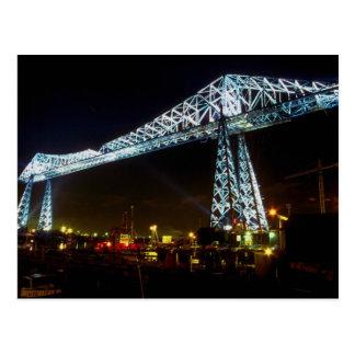 Cartão Postal Ponte na noite, Cleveland do transportador, Ohio,