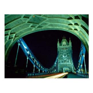 Cartão Postal Ponte na noite, Londres da torre, Inglaterra