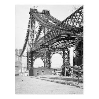 Cartão Postal Ponte nova Brooklyn New York de East River