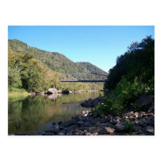Cartão Postal Ponte nova velha de George do rio