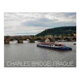 Cartão Postal Ponte Praga de Charles