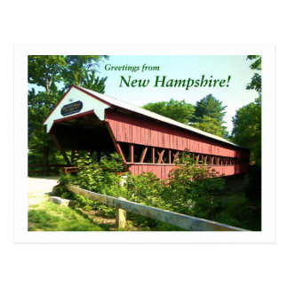 Cartão Postal Ponte rápida do rio - New Hampshire