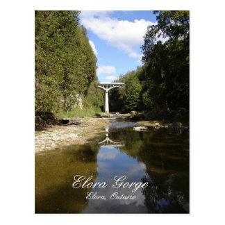 Cartão Postal Ponte sobre o desfiladeiro de Elora