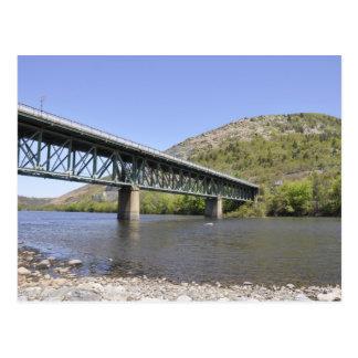 Cartão Postal ponte sobre o rio de Lehigh