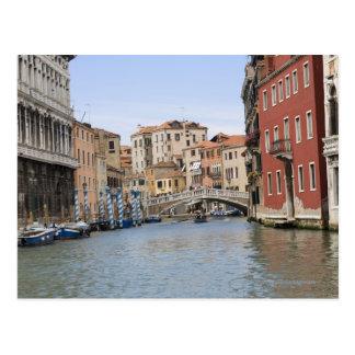 Cartão Postal Ponte sobre um canal, canal grande, Veneza, Italia