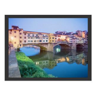 Cartão Postal Ponte Vecchio Florença Italia