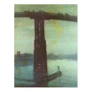 Cartão Postal Ponte velha de Battersea do assobiador de James