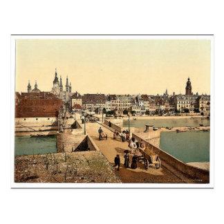 Cartão Postal Ponte velha de Rhine (isto é ponte principal