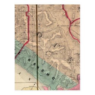 Cartão Postal Ponto de sal, oceano, Mendocino, sequóia vermelha,