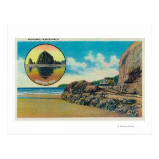 Cartão Postal Ponto do abraço na praia do canhão e na rocha do