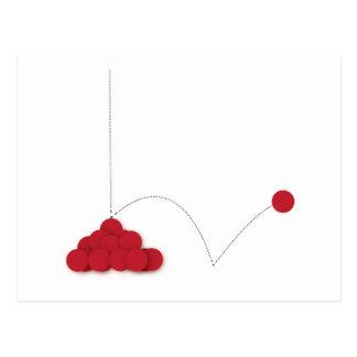 Cartão Postal Ponto vermelho Bouncy