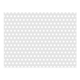 Cartão Postal Pontos brancos em cinzas pálidas
