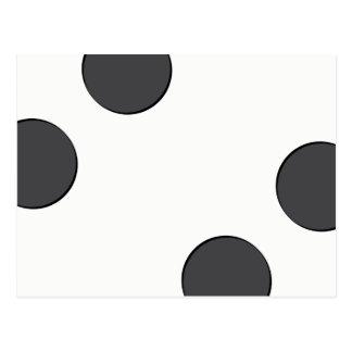Cartão Postal Pontos DarkGrey Checkered