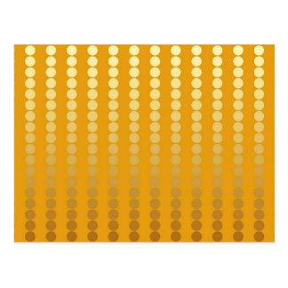Cartão Postal Pontos do cetim - ouro e mostarda
