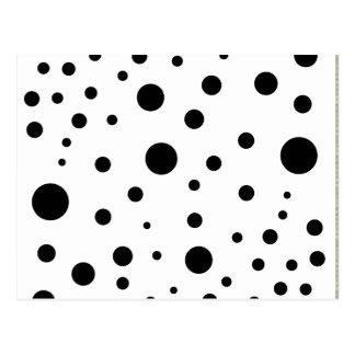 Cartão Postal Pontos minimalistas