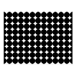 Cartão Postal Pontos pretos no branco