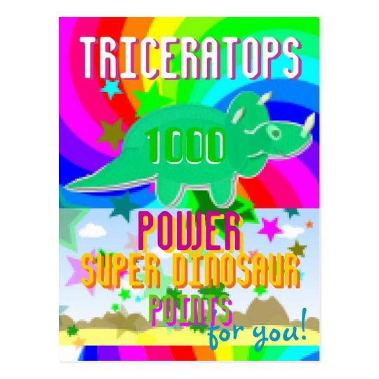 Cartão Postal Pontos super de Dino do poder do Triceratops 1000
