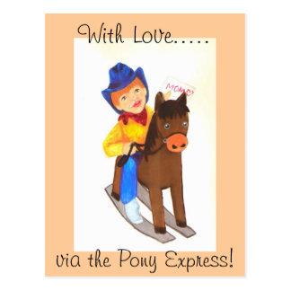 Cartão Postal Pony Express