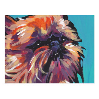 Cartão Postal Pop art brilhante do divertimento do cão de