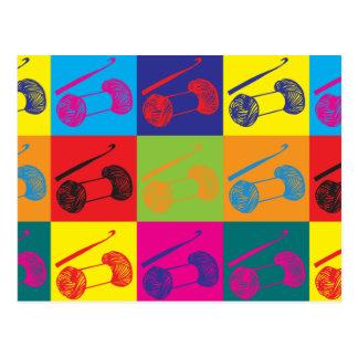 Cartão Postal Pop art Crocheting