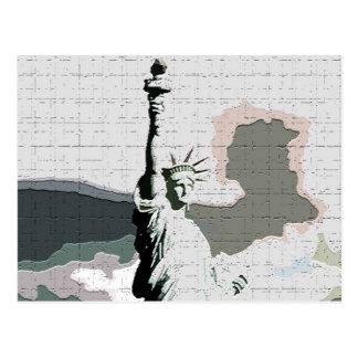 Cartão Postal Pop art da estátua da liberdade