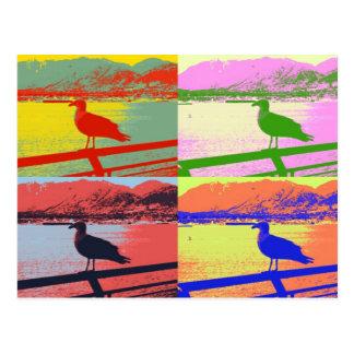 Cartão Postal Pop art da gaivota