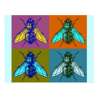 Cartão Postal Pop art da mosca