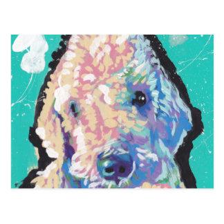 Cartão Postal Pop art de Bedllington Terrier