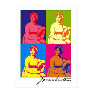 Cartão Postal Pop art de Jane Austen