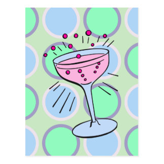 Cartão Postal Pop art do cocktail