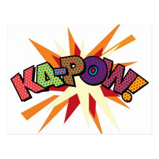 Cartão Postal Pop art KA-POW da banda desenhada!