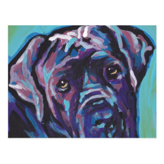 Cartão Postal pop art napolitana do cão do Mastiff