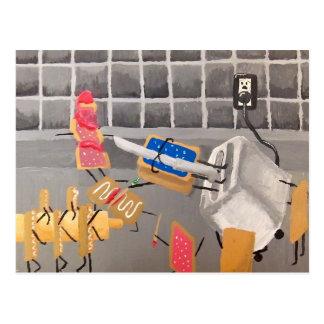 Cartão Postal PopTarts contra strudéis do torradeira