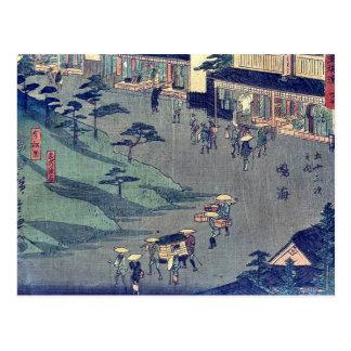 Cartão Postal por Ando, Hiroshige Ukiyo-e.