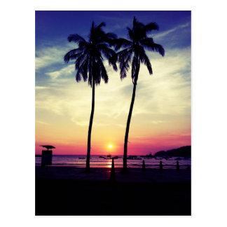 Cartão Postal Pôr do sol