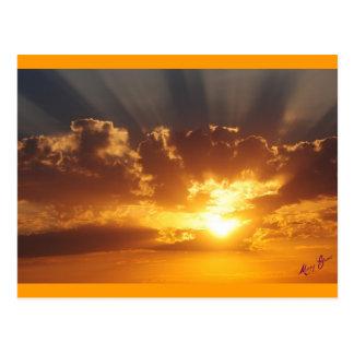 Cartão Postal Por do sol