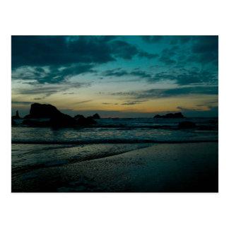 Cartão Postal Por do sol 02 da costa de Oregon